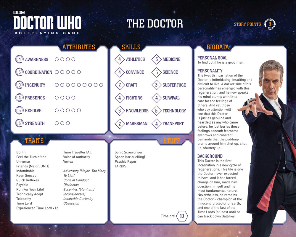 12th Doctor Official Stats